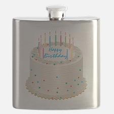 Happy Birthday Cake Flask