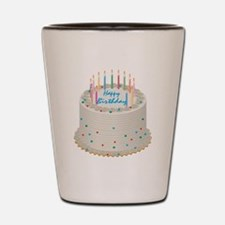 Happy Birthday Cake Shot Glass