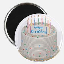 Happy Birthday Cake Magnet