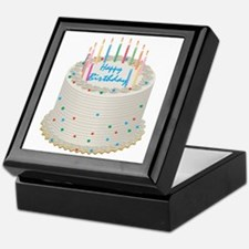 Happy Birthday Cake Keepsake Box