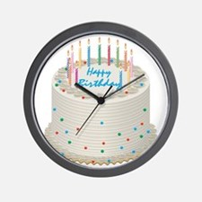 Happy Birthday Cake Wall Clock