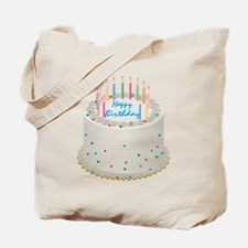 Happy Birthday Cake Tote Bag