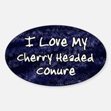 Funky Love Cherry Headed Conure Oval Decal