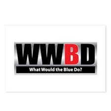What Blue Postcards (Package of 8)