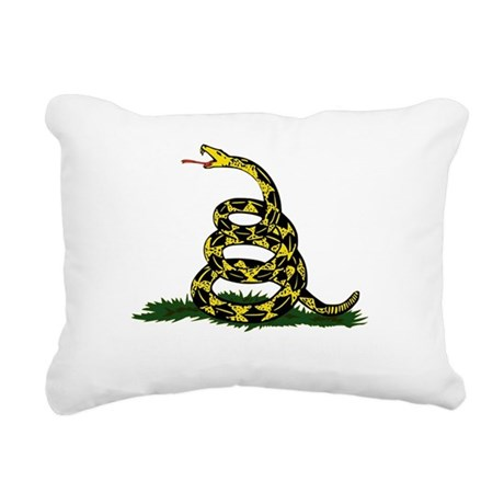 DONT TREAD ON ME Dark Ap Rectangular Canvas Pillow