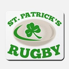 st. patricks rugby Mousepad