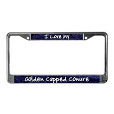 Funky Love Golden Cappe Conure License Plate Frame