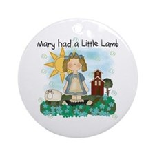 Mary Had a Little Lamb Ornament (Round)