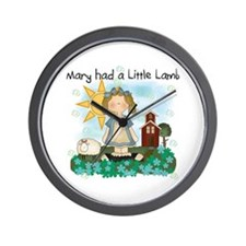 Mary Had a Little Lamb Wall Clock