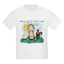 Mary Had a Little Lamb Kids T-Shirt