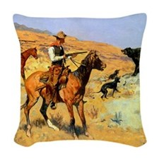 His Last Stand, c Woven Throw Pillow