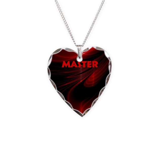Bondage black and red master necklace heart charm by admin for Red black and green jewelry