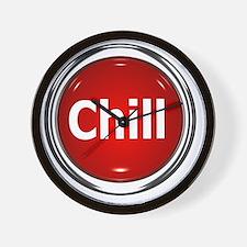 z-button-chill Wall Clock