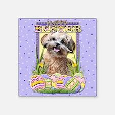 "EasterEggCookiesShihPooCP Square Sticker 3"" x 3"""