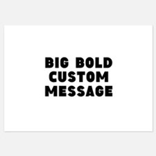 Big Bold Custom Message Invitations