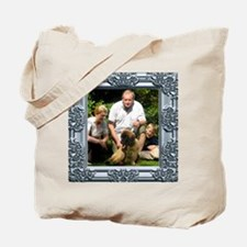 Custom silver baroque framed photo Tote Bag