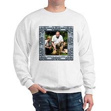 Custom silver baroque framed photo Sweatshirt