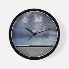 5.25X5.25-Birds-Seagull-Against-Stormy- Wall Clock