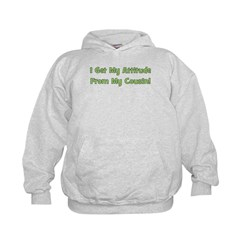 Attitude From Cousin - Green Hoodie
