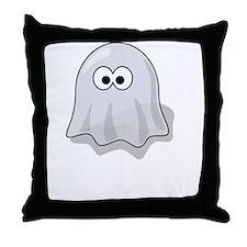 Boo Yah Ghost White Throw Pillow
