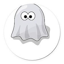 Boo Yah Ghost White Round Car Magnet