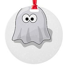 Boo Yah Ghost White Ornament