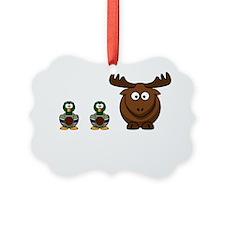 Duck Duck Moose White Ornament
