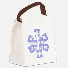 Paramedics White Canvas Lunch Bag