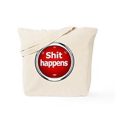 z-button-shit-happens Tote Bag