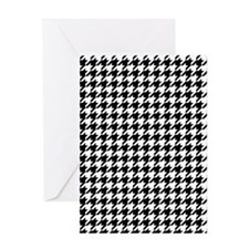 Houndstooth Check Greeting Card