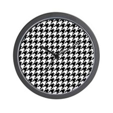 Houndstooth Check Wall Clock