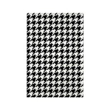 Houndstooth Check Rectangle Magnet