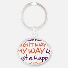 right way Oval Keychain