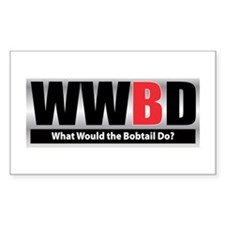 What Bobtail Rectangle Decal