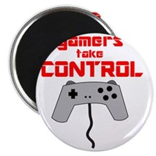 GAMERS TAKE CONTROL red Magnet