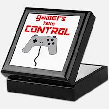 GAMERS TAKE CONTROL red Keepsake Box