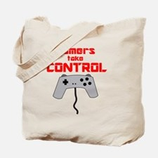 GAMERS TAKE CONTROL red Tote Bag