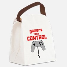 GAMERS TAKE CONTROL red Canvas Lunch Bag