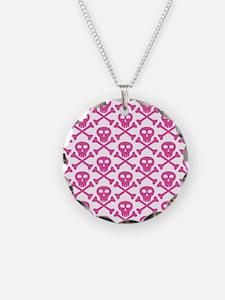 Pink White Skulls Necklace