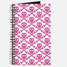 Pink White Skulls Journal