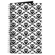 Black White Skulls Journal