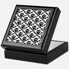 Black White Skulls Keepsake Box