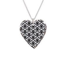 Black White Skulls Necklace