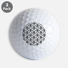 Black White Skulls Golf Ball