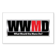 What Manx Rectangle Decal