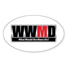 What Manx Oval Bumper Stickers