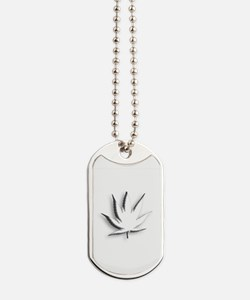 White Weed Dog Tags