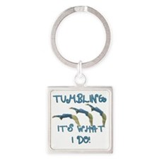 TUMBLING Square Keychain