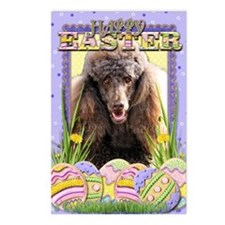 EasterEggCookiesPoodleCho Postcards (Package of 8)