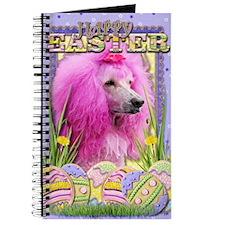 EasterEggCookiesPoodlePink Journal